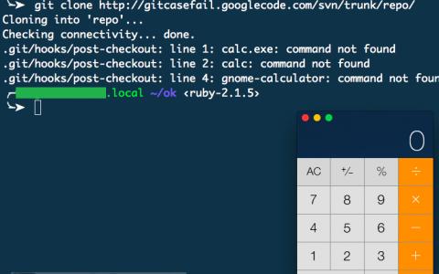Git客户端命令执行漏洞(CVE-2014-9390)