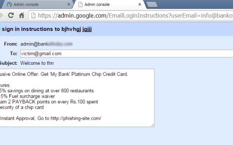Google漏洞可伪造域名邮箱钓鱼