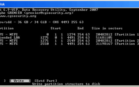 推荐一个Linux分区恢复工具Testdisk(Windows也能用)