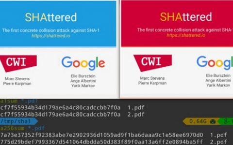 Google宣布攻破SHA-1加密,从此SHA-1不再安全!