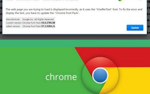 Chrome提示「找不到字体」更新字体?小心是病毒