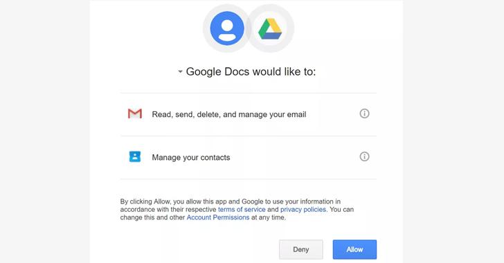 快速扩散的Google Docs钓鱼攻击:一键接管你的Gmail邮箱
