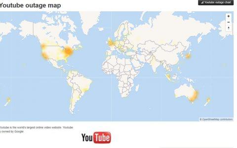 """YouTube 全球大宕机""""网页一片空白""""社媒哀鸿遍野"""