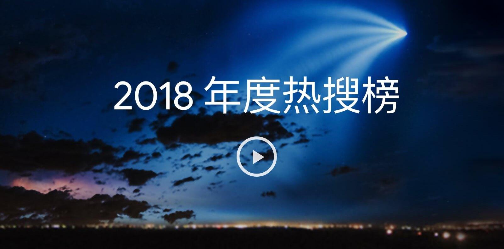 谷歌2018年度热搜榜