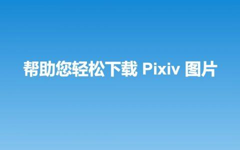 一个好用的Pixiv图片批量下载器 Chrome扩展