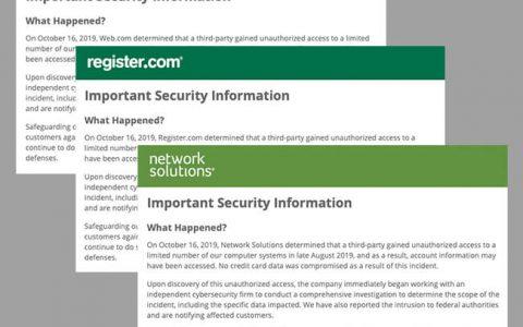 知名Web域名注册商披露数据泄露事件